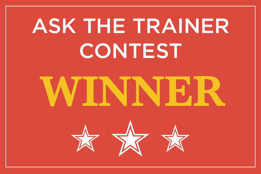 Q & A  –  ASK THE TRAINER CONTEST