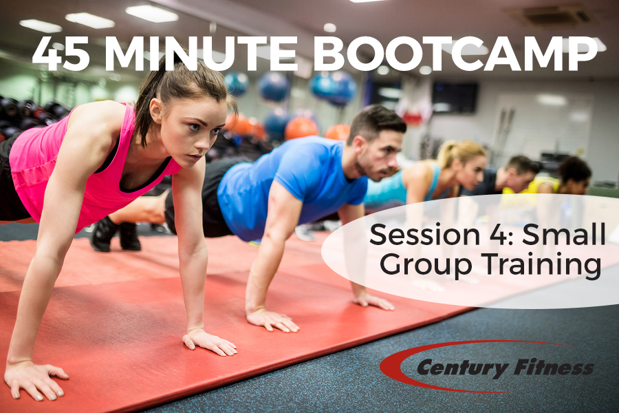 Century Fitness in East Longmeadow MA offers 45 minute bootcamp / small group training sessions
