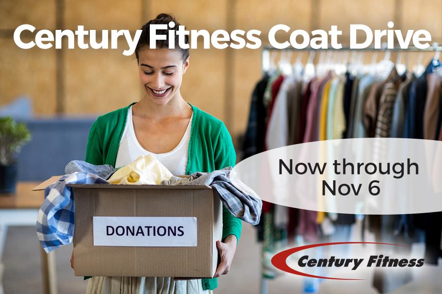 Coat Drive at Century Fitness – Now through Nov 6